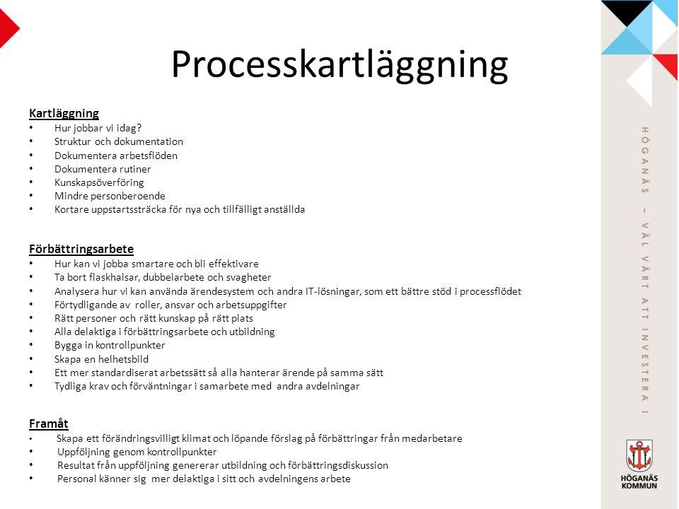 Processkartläggning Kartläggning Hur jobbar vi idag.