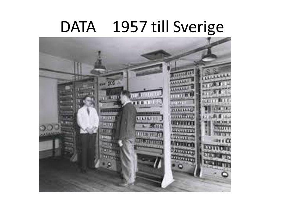 DATA 1957 till Sverige
