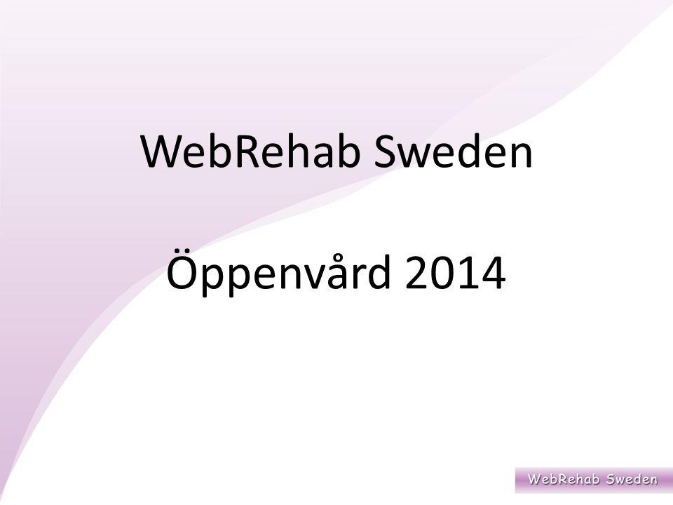 WebRehab Sweden Öppenvård 2014
