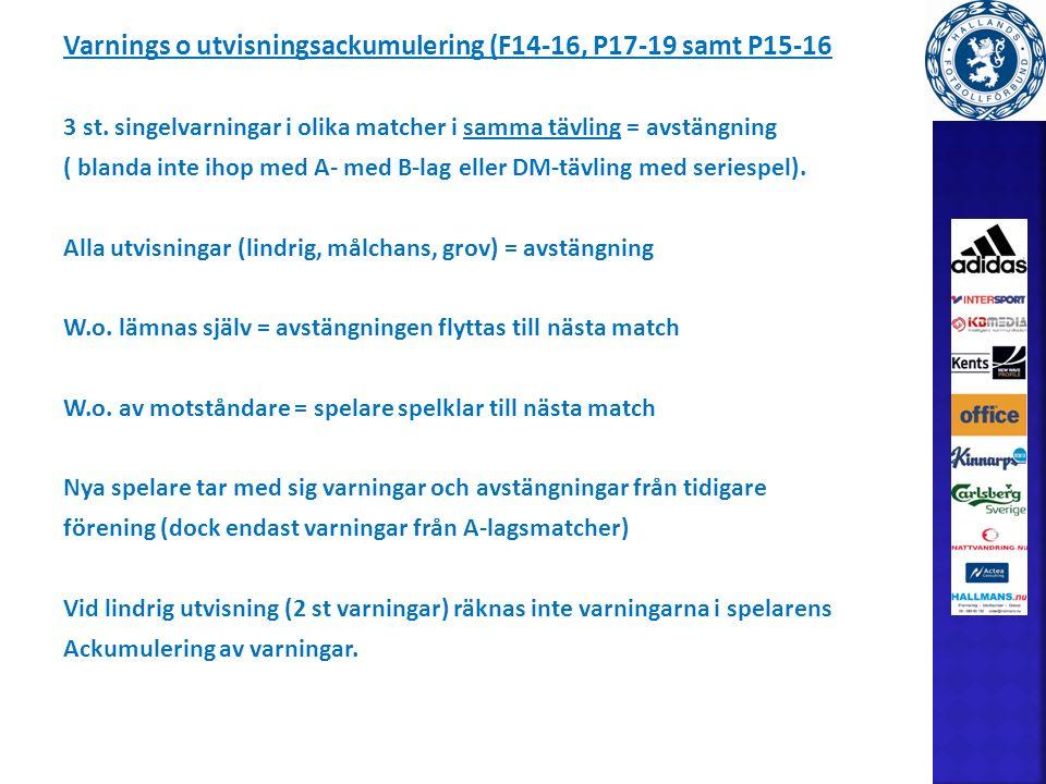 Varnings o utvisningsackumulering (F14-16, P17-19 samt P15-16 3 st.