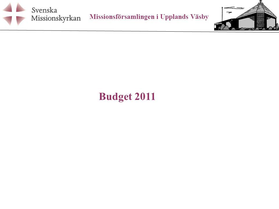 Missionsförsamlingen i Upplands Väsby Budget 2011
