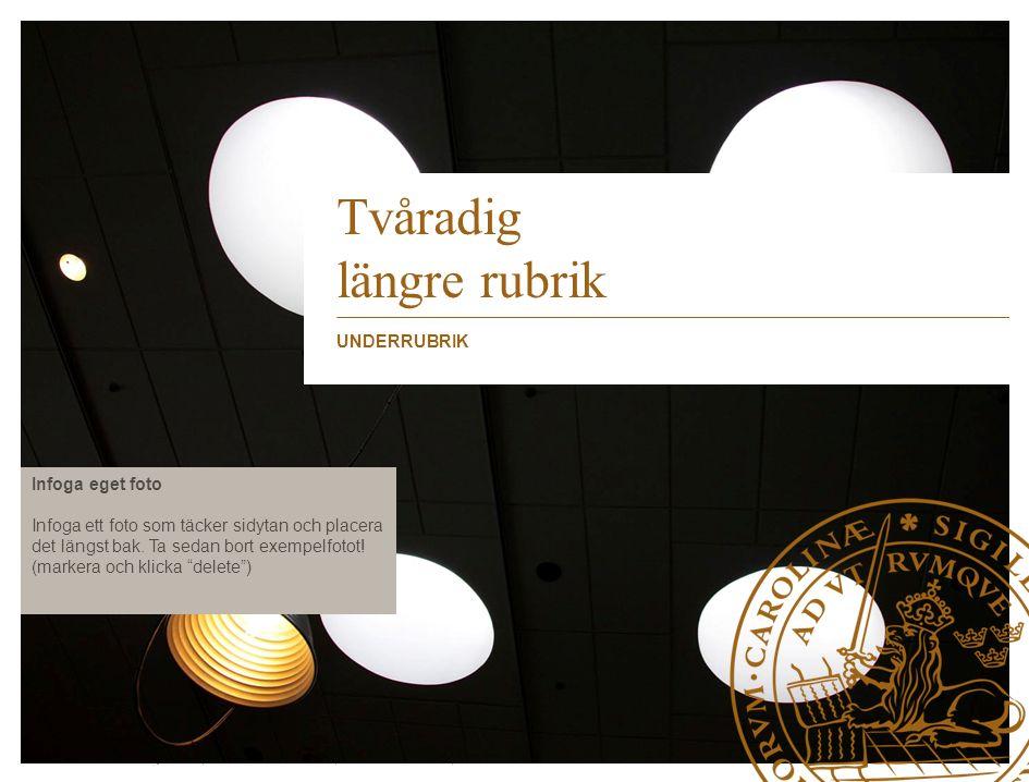 Lunds Tekniska Högskola | Xxxxxxxxxxxxxxxx | Xxxxxxxxxxxxxx | ÅÅÅÅ-MM-DD Infoga eget foto Infoga ett foto som täcker sidytan och placera det längst bak.