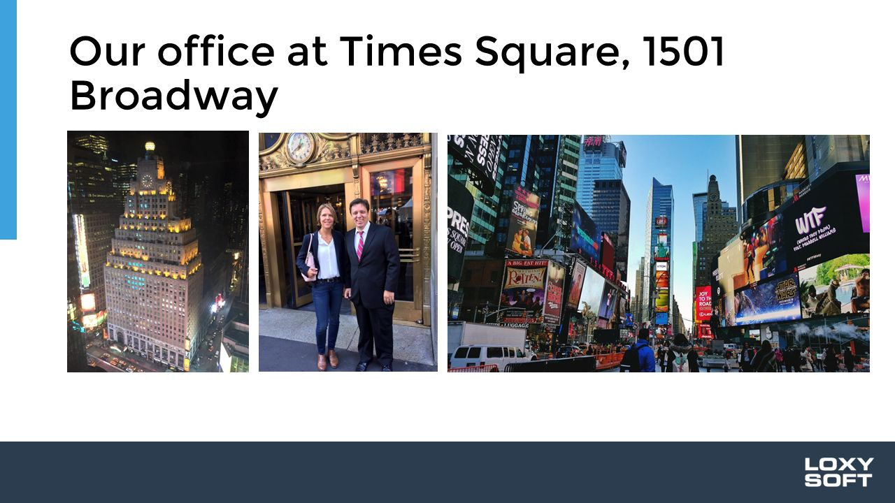 Our office at Times Square, 1501 Broadway