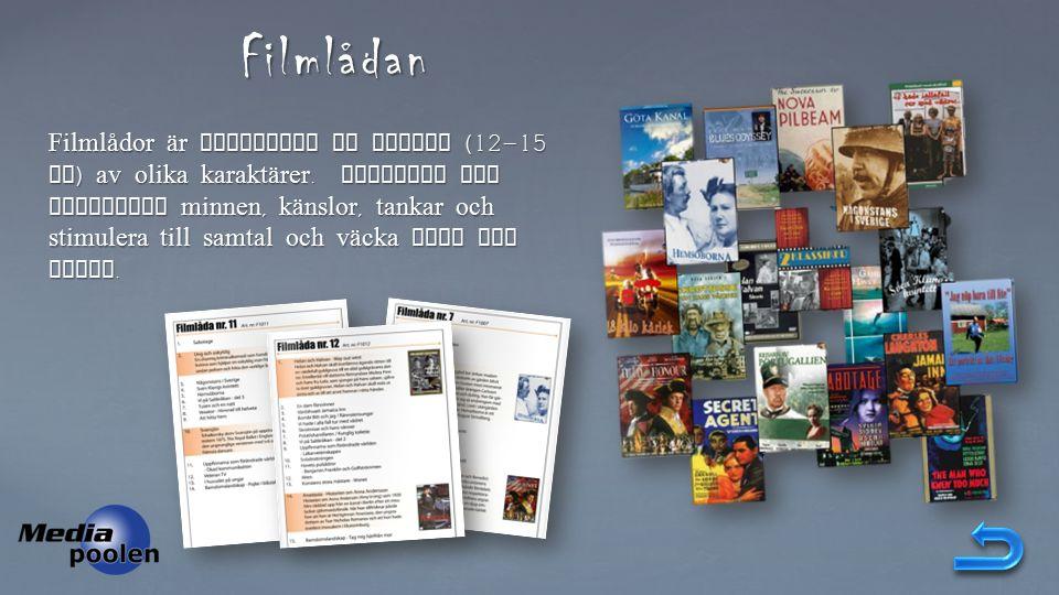 Filmlådan Filmlådor är samlingar av filmer (12-15 st ) av olika karaktärer.