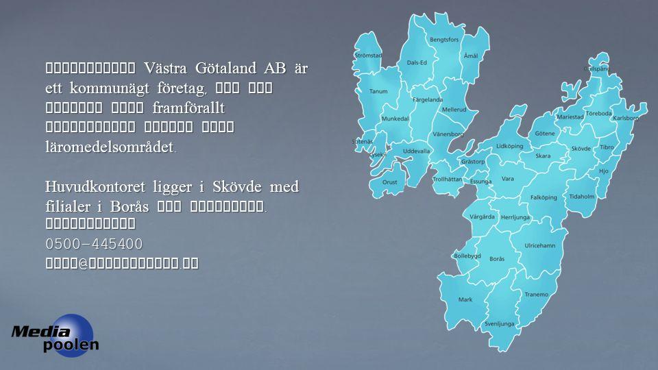 Mediapoolen Västra Götaland AB är ett kommunägt företag, som ger service till framförallt kommunernas skolor inom läromedelsområdet.