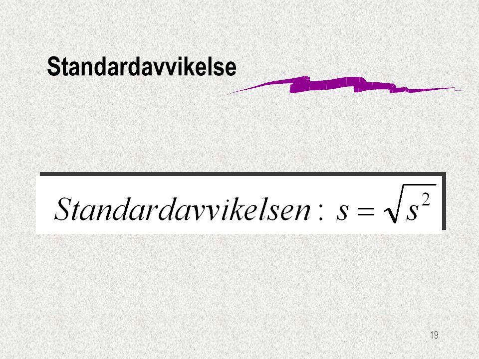 19 Standardavvikelse