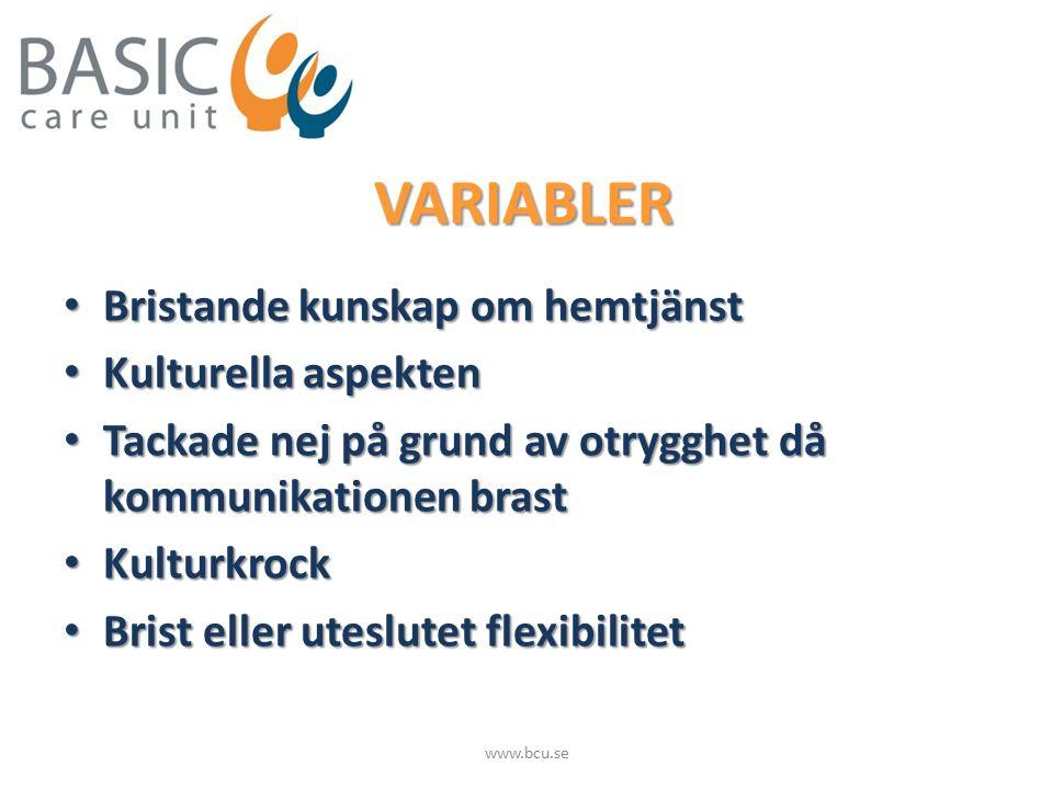 VÄRDEGRUND Kompetens Kompetens Tillgänglighet och kontinuitet Tillgänglighet och kontinuitet Flexibilitet Flexibilitet Bemötande och lyhördhet Bemötande och lyhördhet www.bcu.se