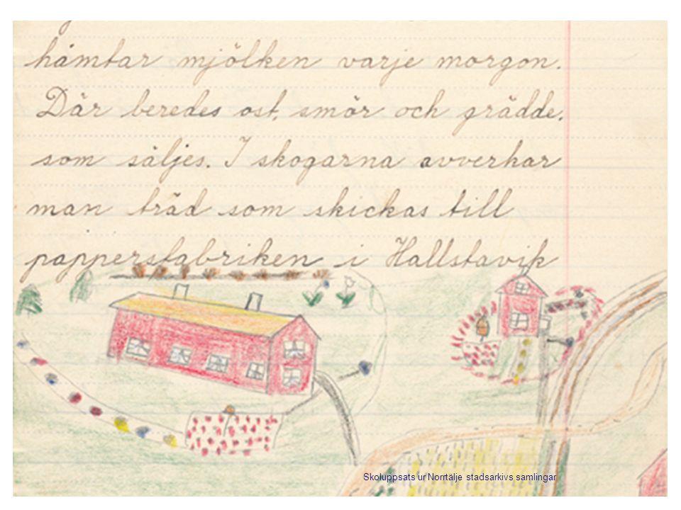 Skoluppsats ur Norrtälje stadsarkivs samlingar