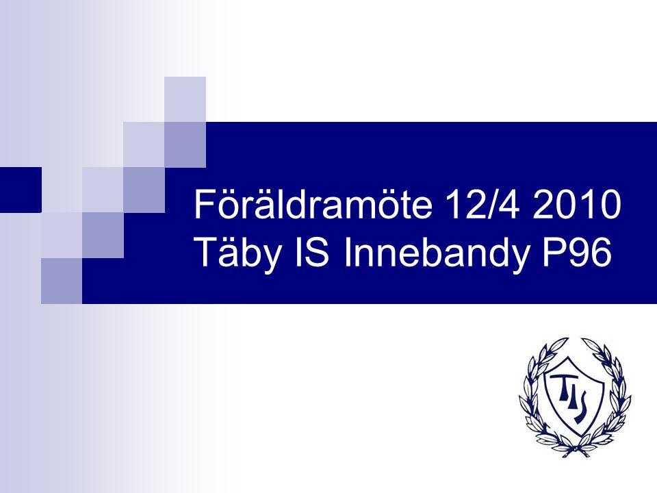 Föräldramöte 12/4 2010 Täby IS Innebandy P96