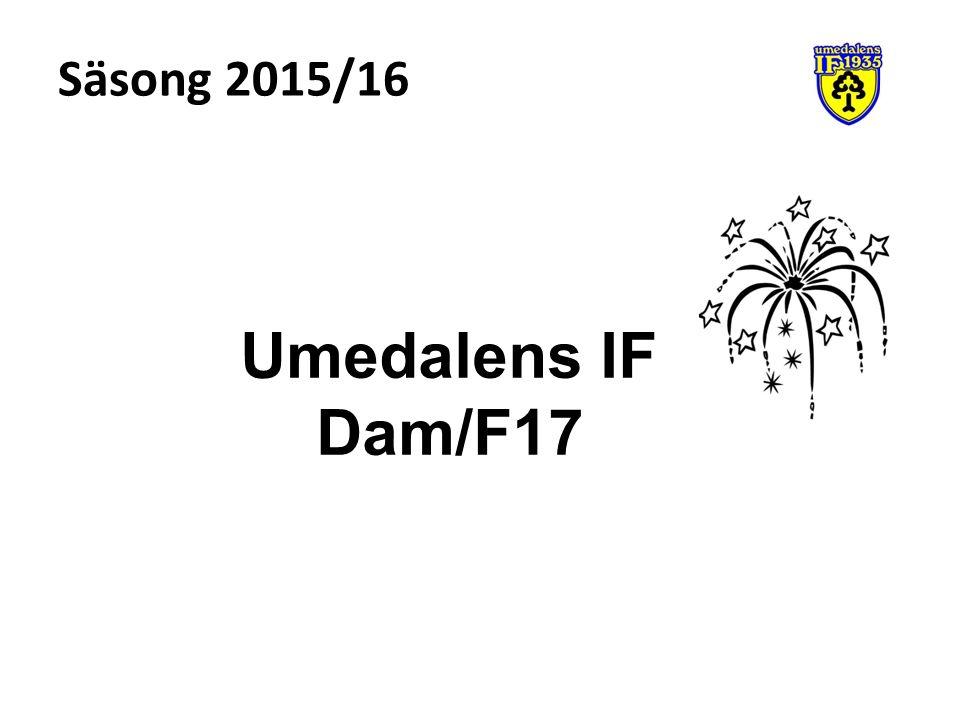Säsong 2015/16 Umedalens IF Dam/F17