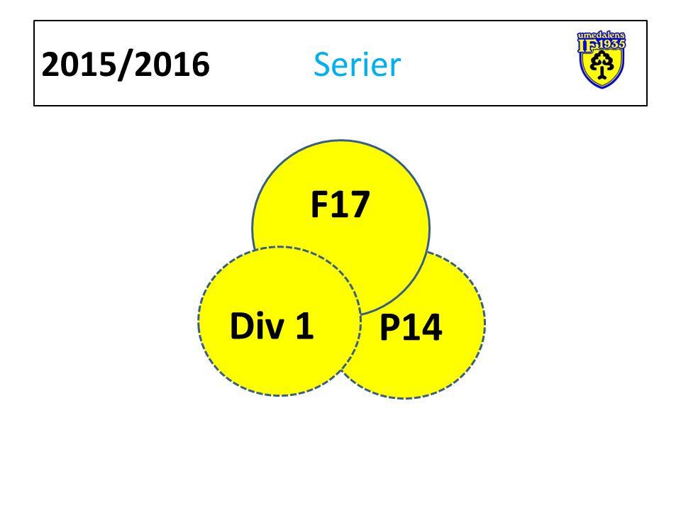 2015/2016 Serier F17 P14 Div 1