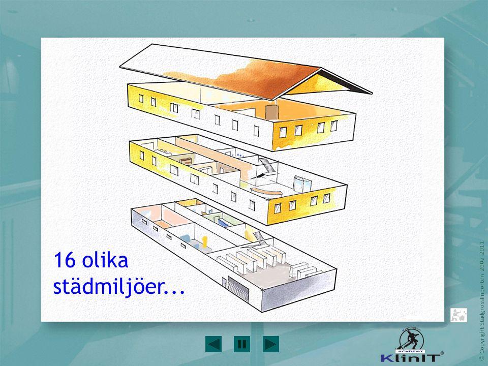© Copyright StädgrossImporten 2002-2011 Husets tak lyfts 16 olika städmiljöer...