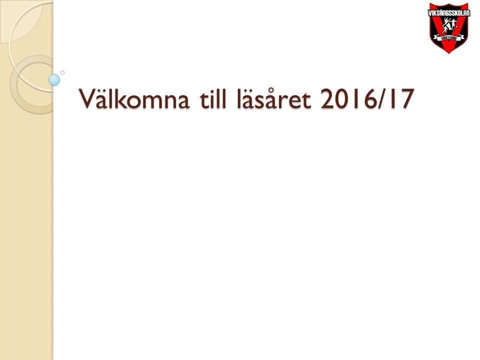 Välkomna till läsåret 2016/17