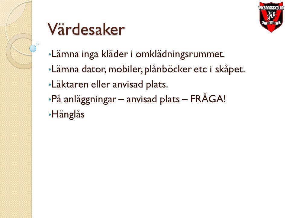 Utrustning Lås & Vattenflaska Kläder efter väder Inne & Uteskor – ALLTID skor.