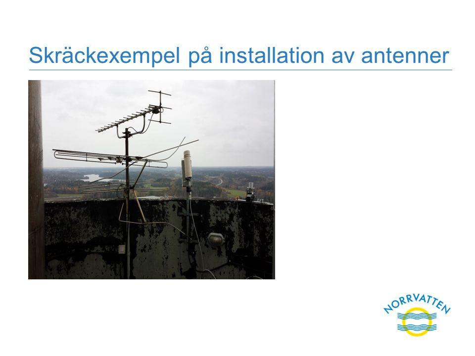 Skräckexempel på installation av antenner