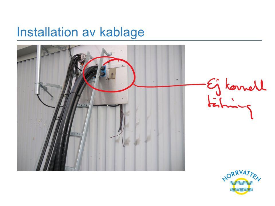 Installation av kablage