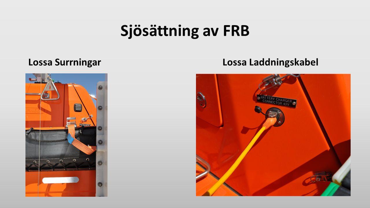 Sjösättning av FRB Lossa SurrningarLossa Laddningskabel