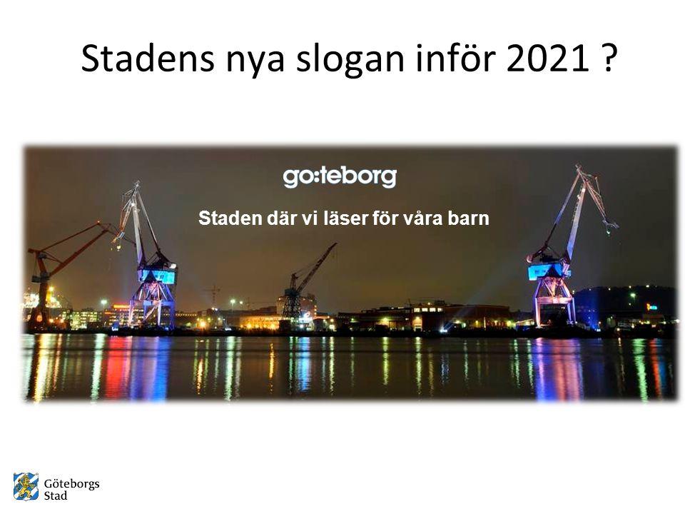 Stadens nya slogan inför 2021 Staden där vi läser för våra barn