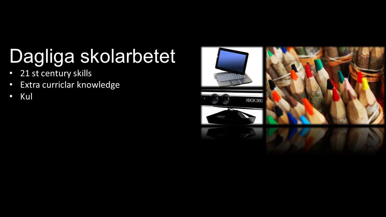 Dagliga skolarbetet 21 st century skills Extra curriclar knowledge Kul