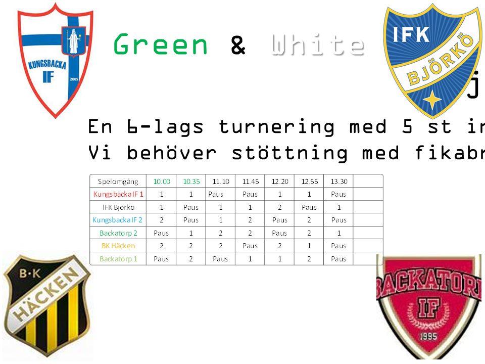 White Green & White minicup 2014 6 juli En 6-lags turnering med 5 st inbjudna lag.