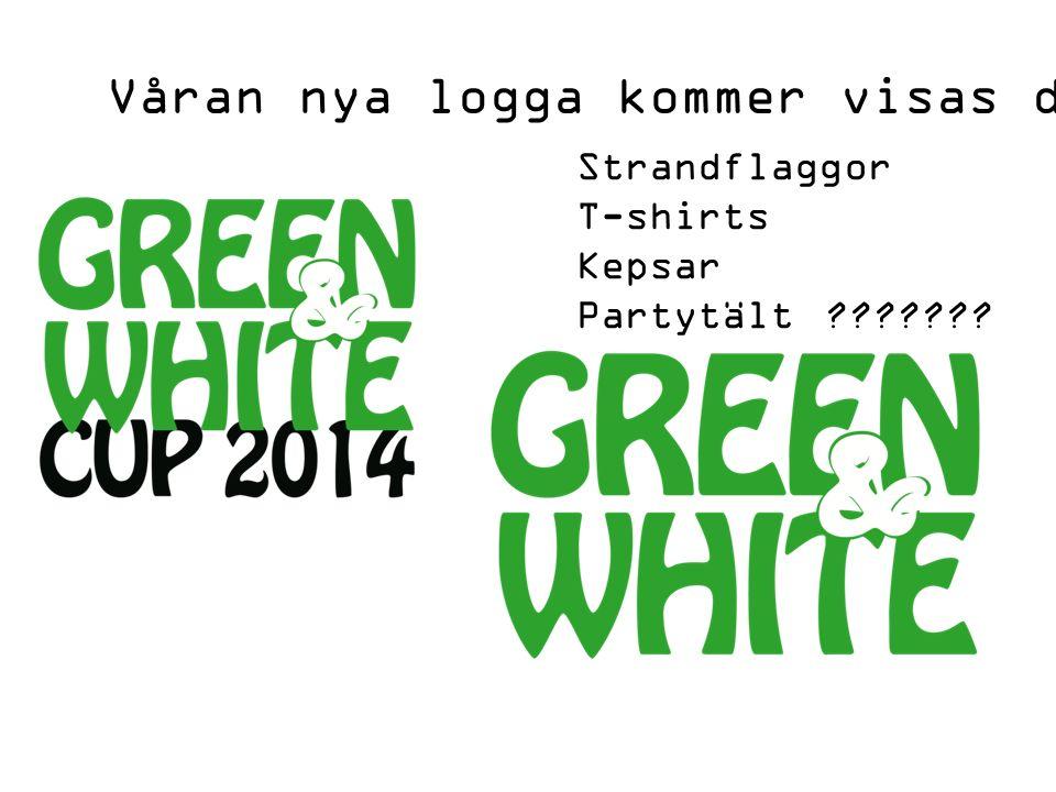 Våran nya logga kommer visas den 6 Juli efter cupen Strandflaggor T-shirts Kepsar Partytält
