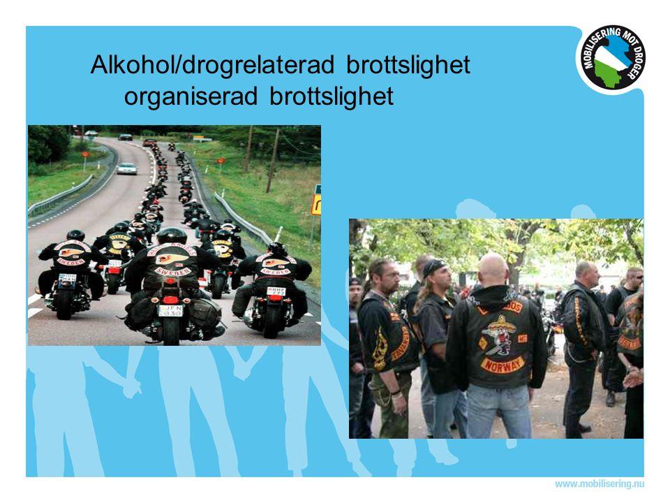 Alkohol/drogrelaterad brottslighet organiserad brottslighet
