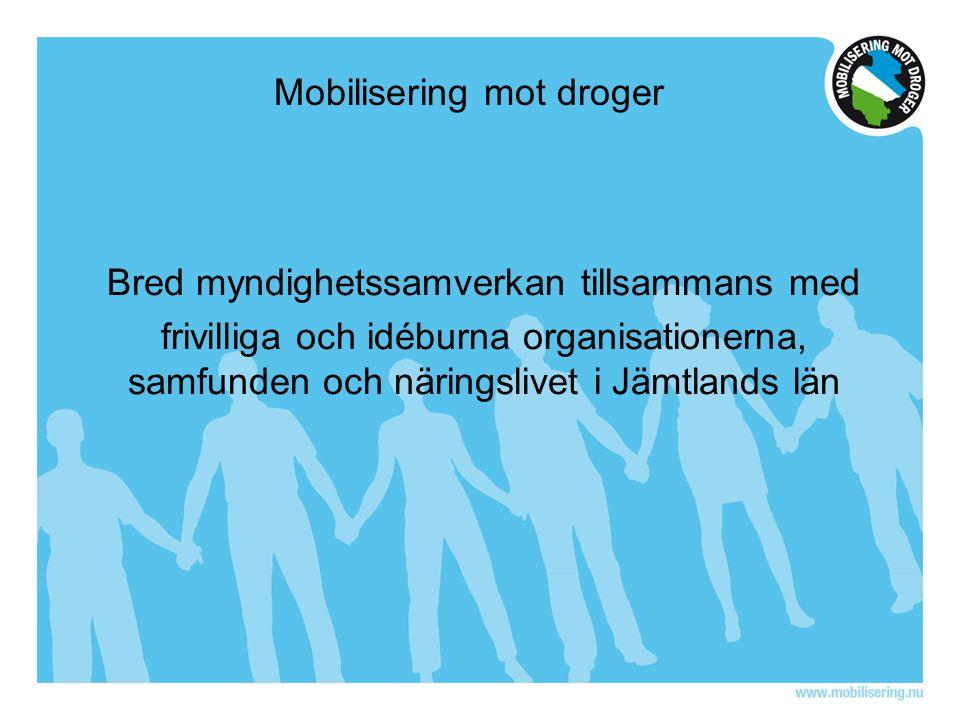 Mobilisering mot droger Bred myndighetssamverkan tillsammans med frivilliga och idéburna organisationerna, samfunden och näringslivet i Jämtlands län