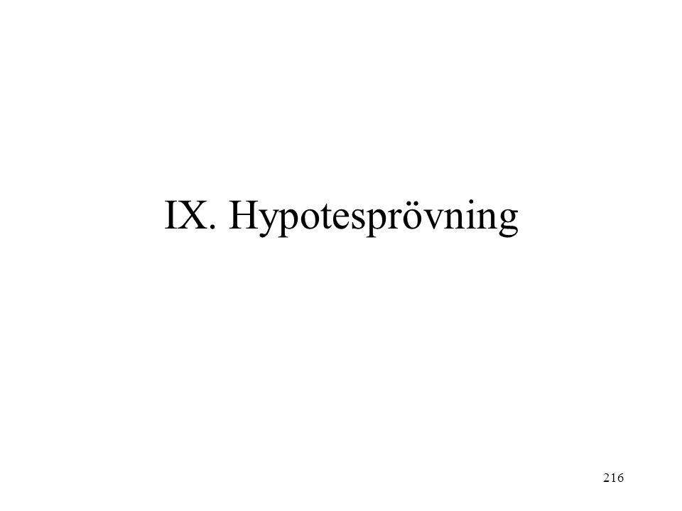 216 IX. Hypotesprövning