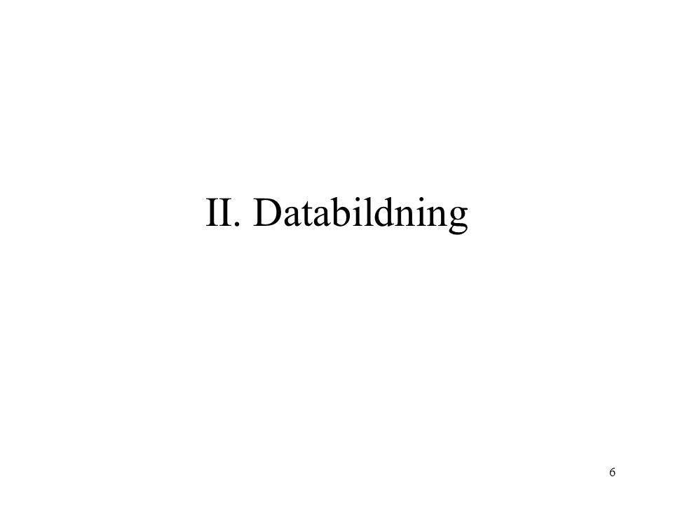 6 II. Databildning