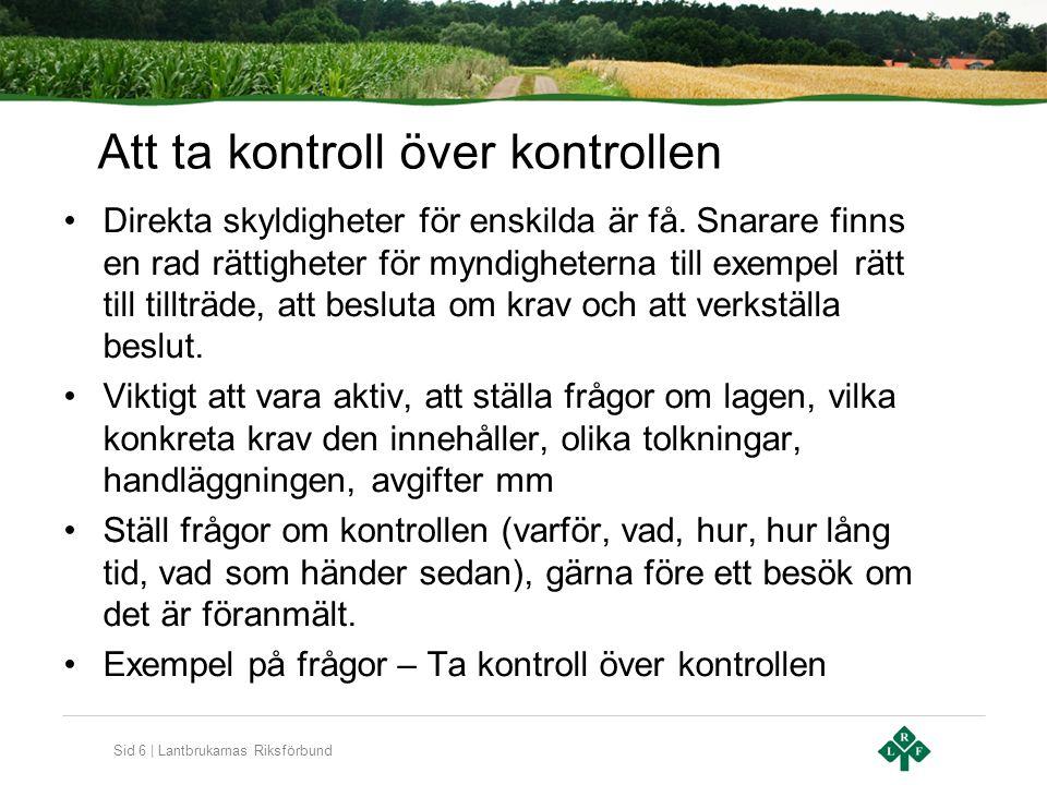 Sid 17 | Lantbrukarnas Riksförbund Vad vill LRF.