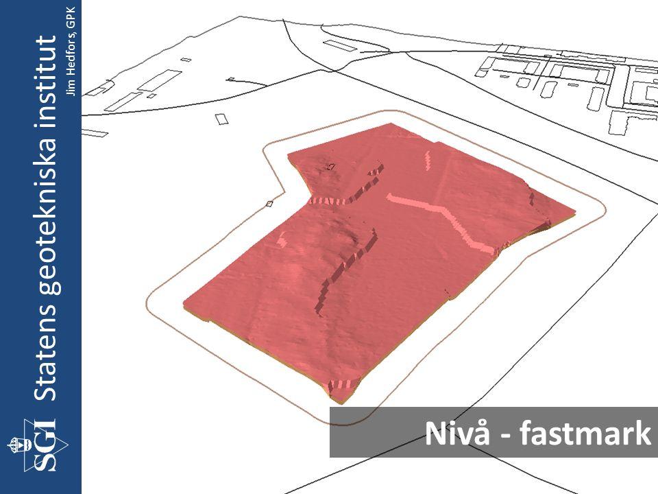 Nivå - fastmark Statens geotekniska institut Jim Hedfors, GPK