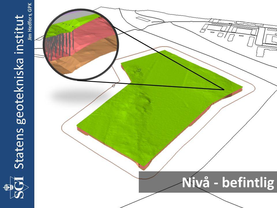 Nivå - befintlig Statens geotekniska institut Jim Hedfors, GPK