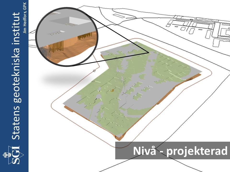 Nivå - projekterad Statens geotekniska institut Jim Hedfors, GPK