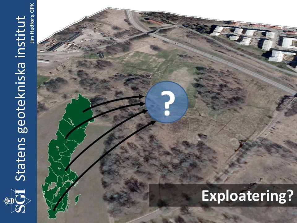 Exploatering Statens geotekniska institut Jim Hedfors, GPK