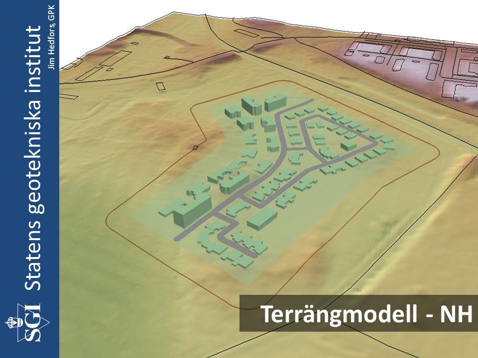 Terrängmodell - NH Statens geotekniska institut Jim Hedfors, GPK