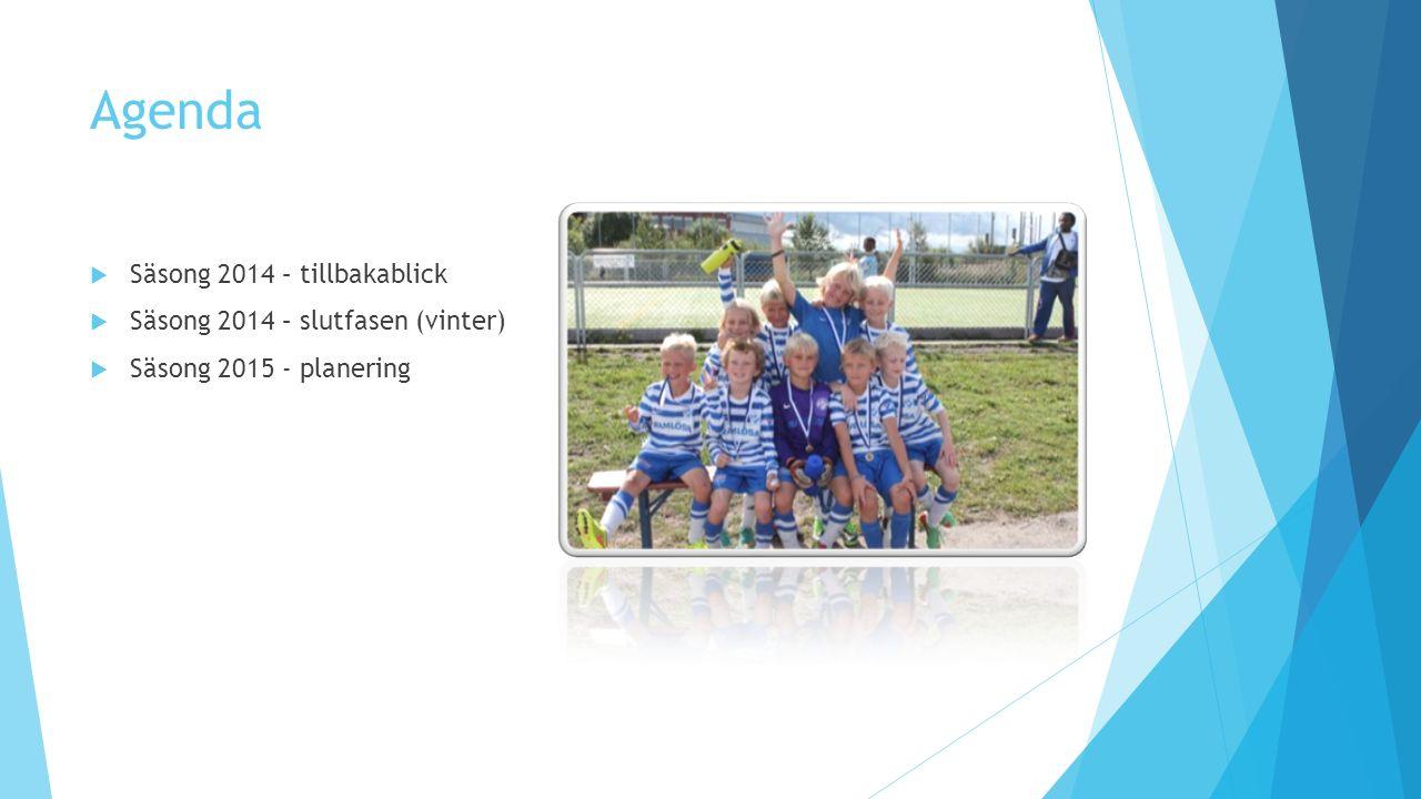 Säsong 2014 – Tillbakablick  K-laget  Idag 19 spelare på pappret (4 nya sen i somras).