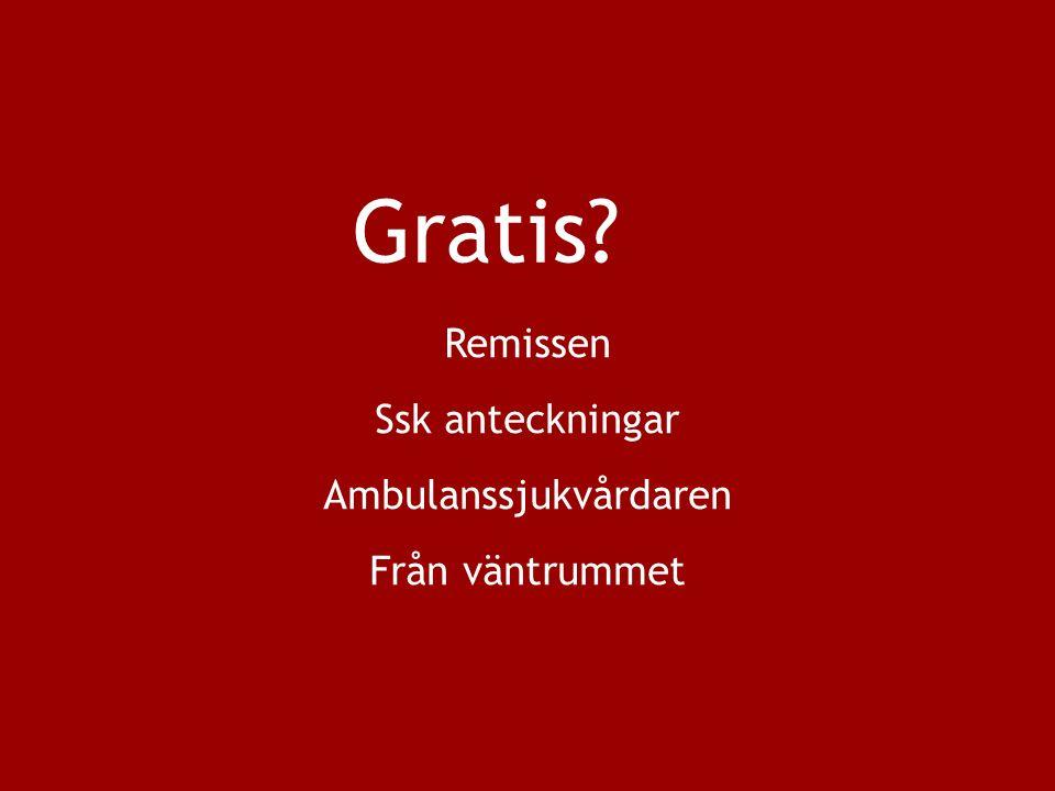 Gratis Remissen Ssk anteckningar Ambulanssjukvårdaren Från väntrummet
