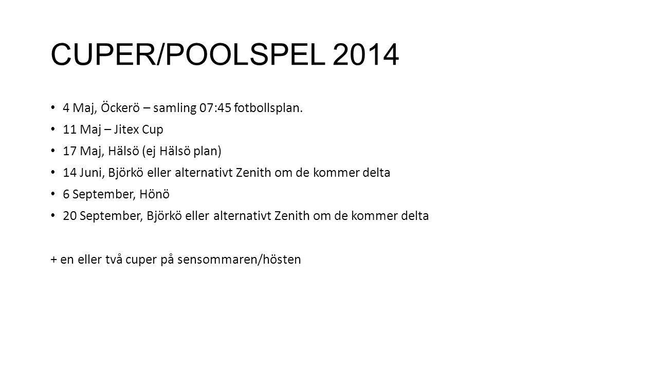 CUPER/POOLSPEL 2014 4 Maj, Öckerö – samling 07:45 fotbollsplan.