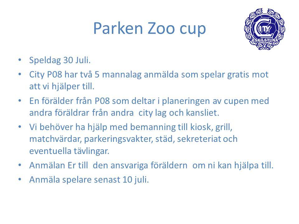 Parken Zoo cup Speldag 30 Juli.
