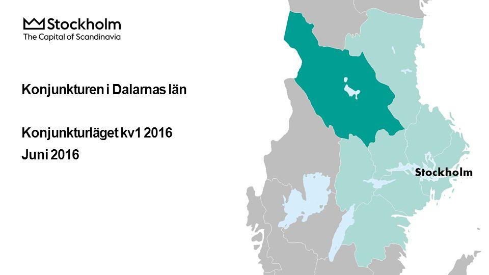 Konjunkturen i Dalarnas län Konjunkturläget kv1 2016 Juni 2016