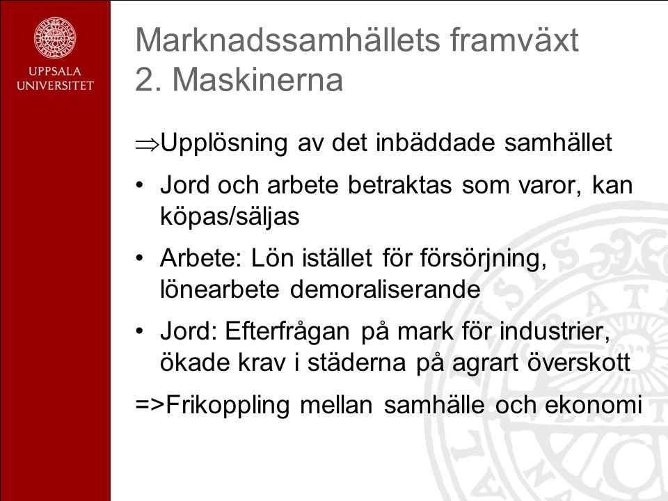 Marknadssamhällets framväxt 2.