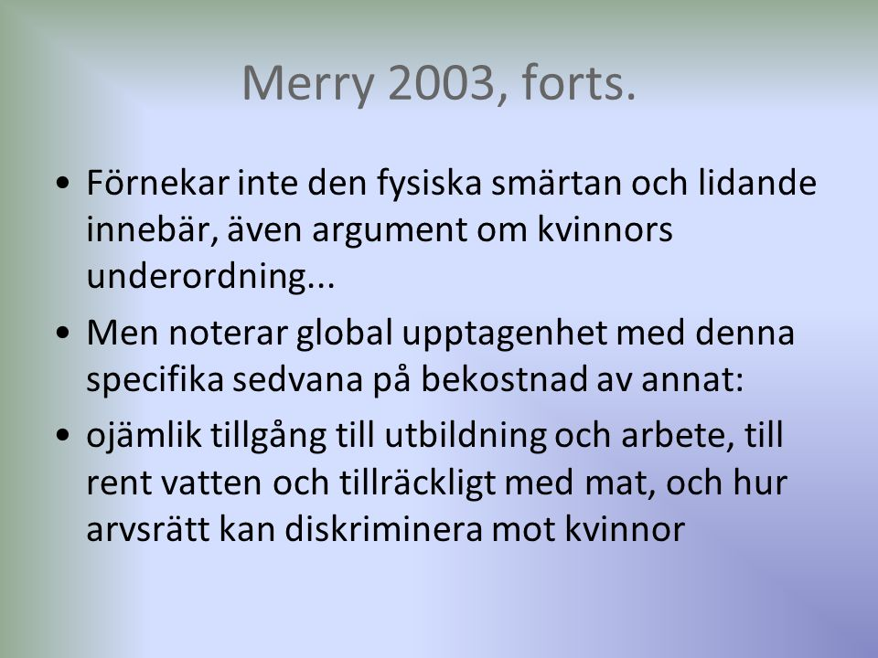 Merry 2003, forts.