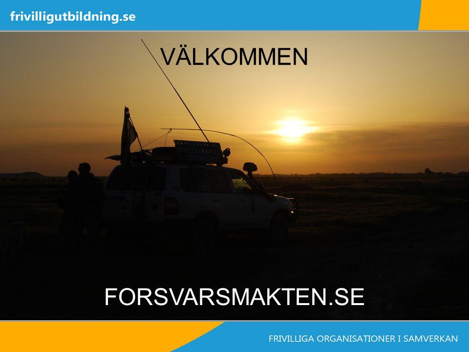 VÄLKOMMEN FORSVARSMAKTEN.SE