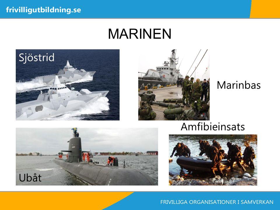 MARINEN Sjöstrid Ubåt Amfibieinsats Marinbas