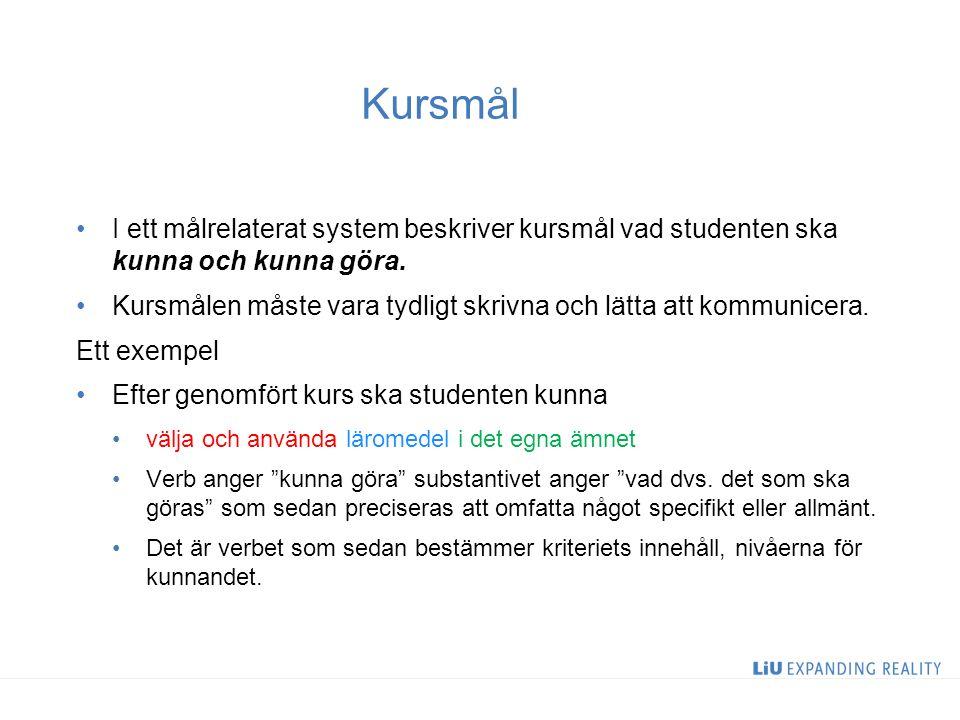 Allmänna mål för alla VFU kurser Kunna planera undervisning utifrån didaktiska perspektiv/teorier/modeller….