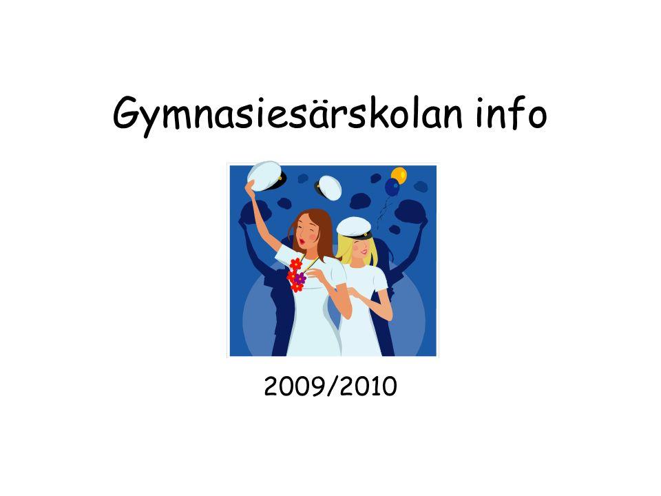 Gymnasiesärskolan info 2009/2010