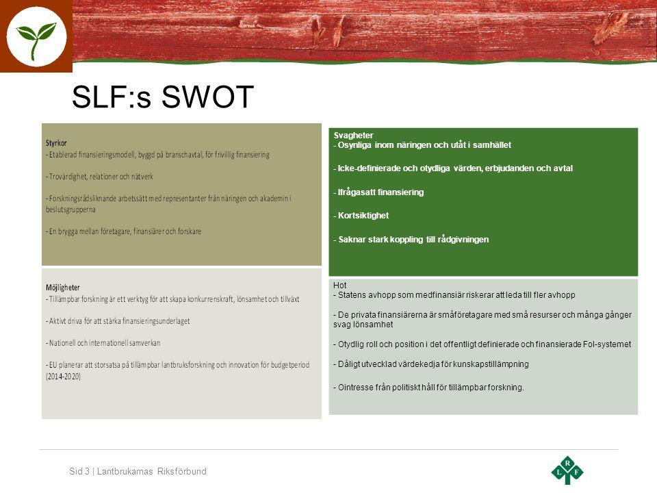 Sid 4 | Lantbrukarnas Riksförbund Sverige är exceptionellt forskningstungt i relation till dess ekonomiska storlek…