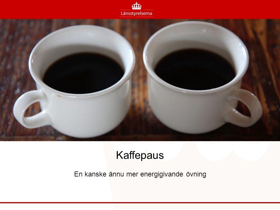 Kaffepaus En kanske ännu mer energigivande övning