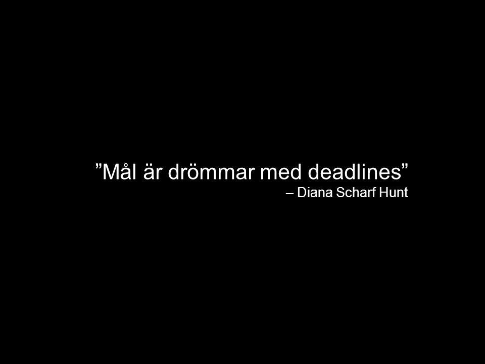 Mål är drömmar med deadlines – Diana Scharf Hunt