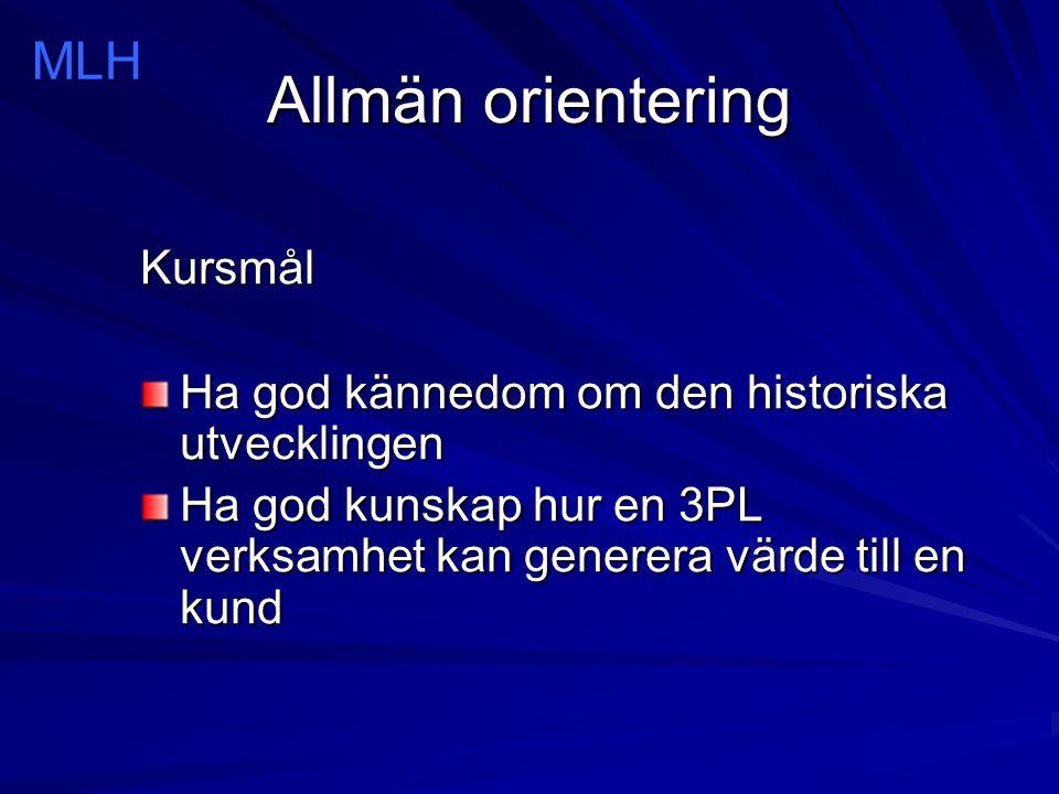 Allmän orientering MLH Samsung Kuehne+Nagel Media Markt Order Leverans